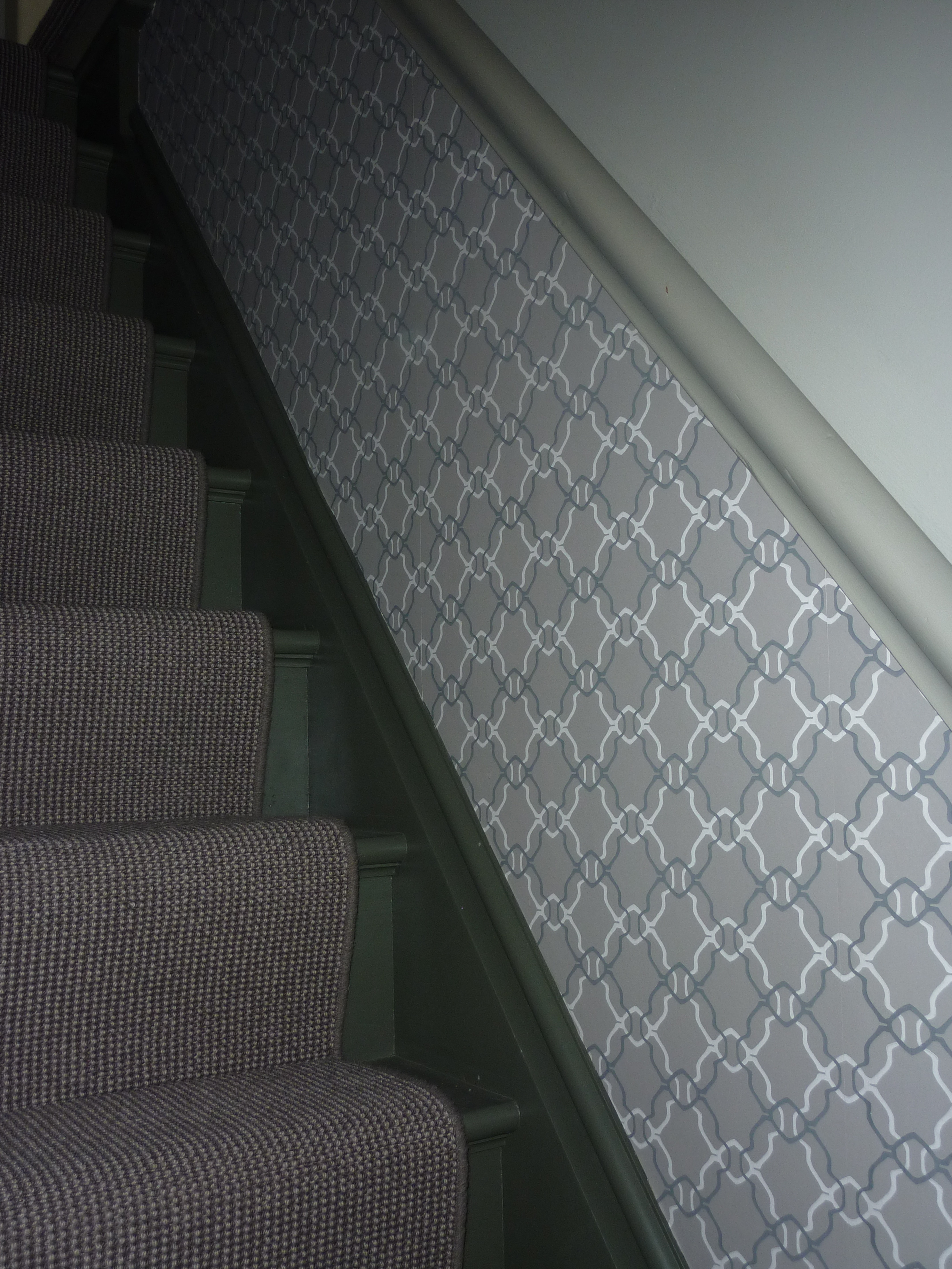 Rooms always the home bird - How to wallpaper stairs and landing ...
